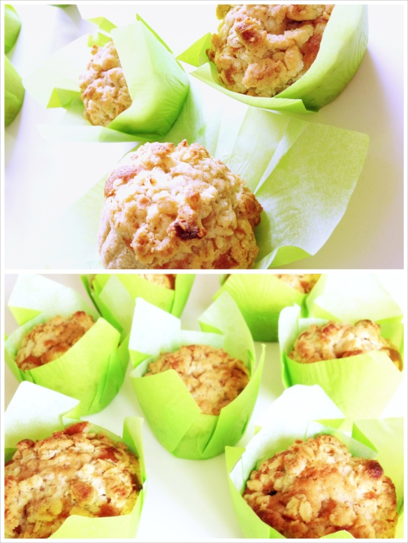 Apple crumle muffin